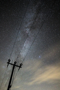 Electricity lines trying to block out the milky way
