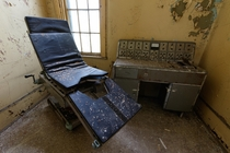 Electroencephalogram machine in an abandoned asylum It was used to detect epilepsy and other brain disorders