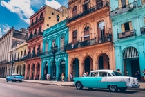 Elegant Facades and Pastel Coloring highlight the Neo-Classical styles of Havana Cuba photo by-Augustin de Montesquiou