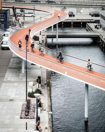 Elevated bike path in Copenhagen