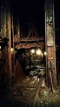 Elevator inside the No  coal mine Lansford Pennsylvania