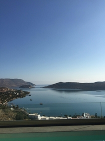 Elounda Crete With Spinalonga Island in the distance