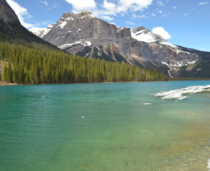 Emerald Lake after the thaw Yoho National Park Canada