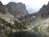 Emerald Lake in the heart of Rocky Mountain National Park CO