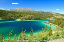 Emerald Lake in the Yukon Canada I drive by it all the time but my phone doesnt do it justice this photo by Matt Shetzer does