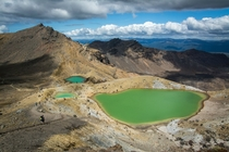 Emerald Lakes Tongariro National Park New Zealand  OC