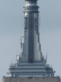 Empire State Building spire showing observation decks