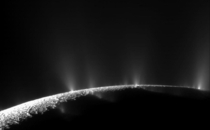Enceladus a moon of Saturn as seen by Cassini The geysers hint at at a sub surface ocean Making it a potential host for life