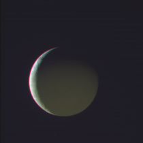 Enceladus lit by saturnshine