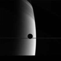Enceladus transiting Saturn