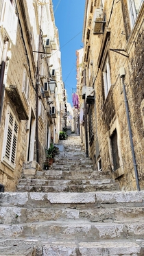 Enchanting back streets of the old town Dubrovnik Croatia