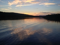 End of the day at Saint-Marc-du-Lac-Long Qubec