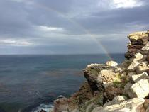 End of the rainbow at the Cape of Good Hope South Africa