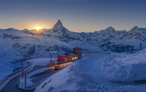 End of track in Zermatt Switzerland at  ft altitude