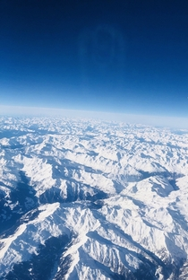 Endless Snow-Capped Mountains Over Northern Italy