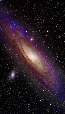 Enhanced Andromeda galaxy
