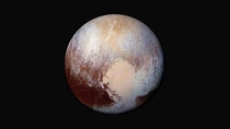 Enhanced color image of Pluto used detect differences in the composition and texture of Plutos surface New Horizons LORRI and Ralph