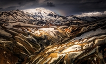 Enigmatic Glow On Rhyolites Iceland by Alban Henderyckx