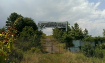 Entrance to Abandoned Metrolina Speedway Outside Charlotte NC