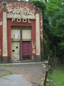 Entrance to an abandoned pool in Maryland Im sure many incredible summers were had here decades ago