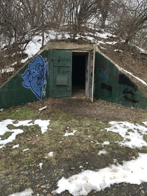 Entrance to one of the Alvira Bunkers in upstate Pennsylvania