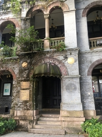 Entrance to th century British embassy in Wenzhou China Now disused