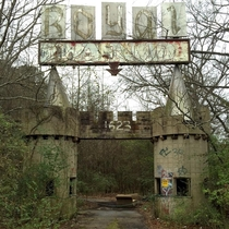 Entrance to the abandoned Royal Land amusement park in a Meridian MS