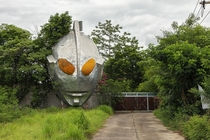 Entrance to the abandoned Ultraman Town amp Museum central Thailand