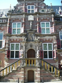 Entrance to the city hall of Bolsward designed by Jacob Gysbert