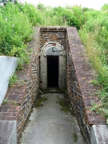Entrance to the powder battery York Redoubt Halifax NS