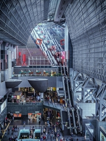 Entry hall of Kyoto Station Japan