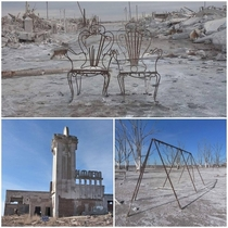 Epecuen Argentinian - Flooded with  metres of rain in  and recently uncovered when the water level fell x