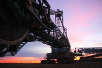 Epic German sunrise behind the epic Bagger