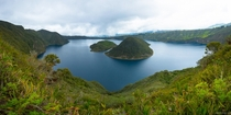 Epic hike around Laguna Cuicocha a crater lake in Ecuador