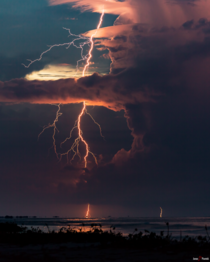 Epic Lightning striking Venezuelas Maracaibo Lake The Catatumbo Lightning takes place here where the highest concentration of lightning in the world ist found
