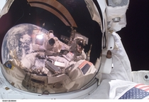 Epic selfie from the ISS