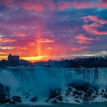 Epic sunrise over Niagara Falls