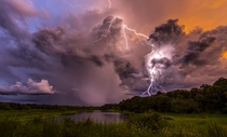 Epic weather in Myakka State Park Florida  by Justin Battles