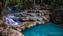 Erawan Falls in Thailand maybe there IS a God