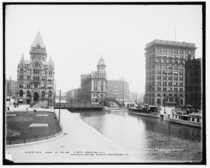 Erie Canal at Salina Street Syracuse New York