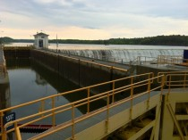 Erie Canal Lock  and dam Mohawk River Niskayuna NY