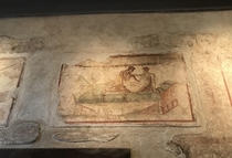 Erotic mural in a Pompeii brothel