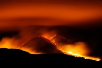 Eruption on Mount Etna Sicily Italy
