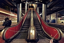 Escalator Broke Temporarily unusable Stairs in Coslada Spain  by Ronald Arevalo