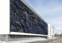 Eskenazi Hospital Parking Garage Facade  Urbana Studio   x