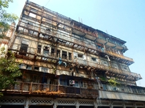 Esplanade Mansion Bombay  -- Indias first cast-iron building and luxury hotel since usurped by the Taj and fallen into disarray