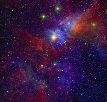 Eta Carinae and part of the Carina Nebula composite image IR and X-ray