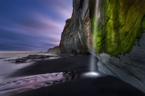 Etched in Colour Whitecliff Waterfall at low tide New Zealand  Photo by Dylan Toh amp Marianne Lim