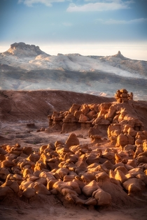 Ethereal light at Goblin Valley State Park in central Utah