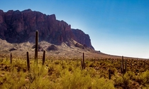 Ethereal November afternoon at Superstition Mountain AZ